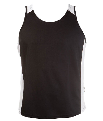 Buy Online Black White OC Mens Basketball Singlets in Australia