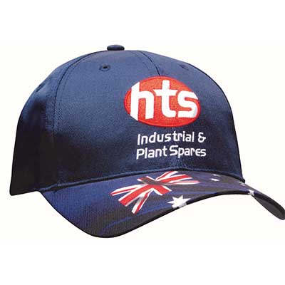 Breathable Poly Twill Waving Flag Cap in Sydney