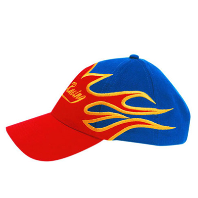 Brushed Heavy Cotton Caps with Flame Design in Australia