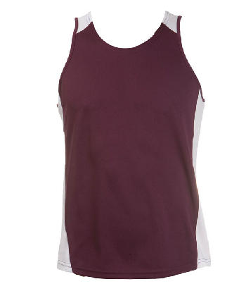 Order Burgundy White OC Mens Basketball Singlets Online in Perth