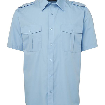 Custom Blue Epaulette Shirt S/S in Perth