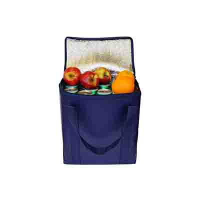 Buy Custom Navy Large Coated Cooler Bags Online in Perth