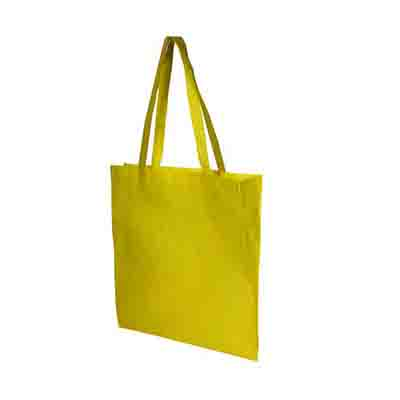 Buy Custom Yellow Non Woven Tote Bag V Gusset in Perth