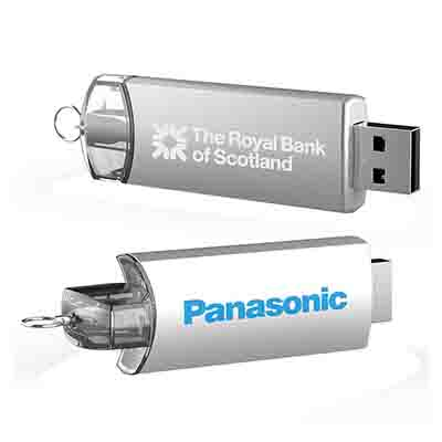 Pavo Twist Metal Flash Drive in Perth
