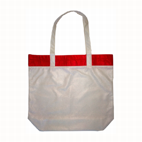 Promotional Red Coloured Bamboo Tote Bag in Perth