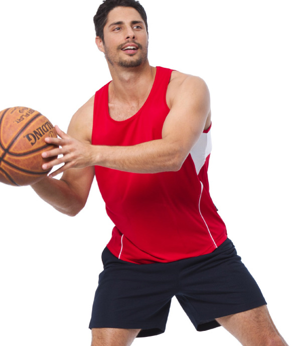 Buy Promotional Red Terminator Basketball Singlets in Australia