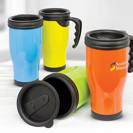 Custom Commuter Travel mugs in Perth, Australia