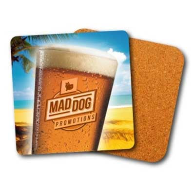 Custom Cork Coasters Bulk Perth - Mad Dog Promotions