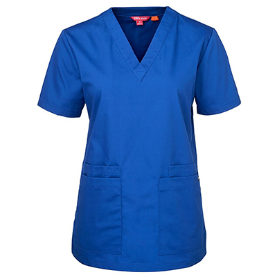 Personalised Dark Blue Unisex Scrubs Top in Australia