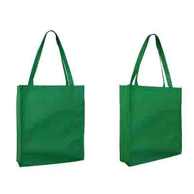 Custom Green Non Woven Large Tote Bag with Gusset Online in Perth