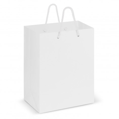 Custom White Laminated Carry Bags