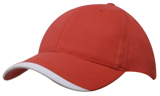 Custom Made Red Brushed Heavy Sports Twill Caps Perth, Australia