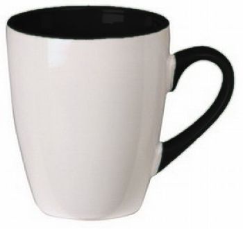 Custom Made White Black Calypso Mug in Perth