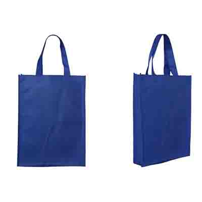 Custom Printed Drak BLue Non-Woven Trade Show Tote Bags Online in Perth