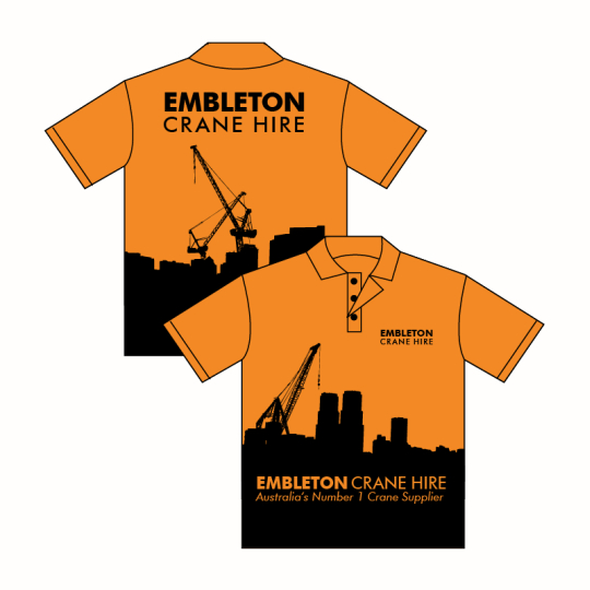 Custom Printed Hi-Vis Custom Work Shirts and Workwear Perth