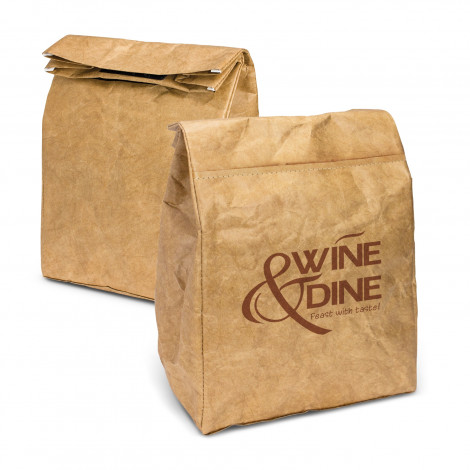Custom Printed Kraft Cooler Lunch Bags in Australia
