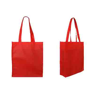 Custom Printed Red Non Woven Large Tote Bag with Gusset Online in Perth