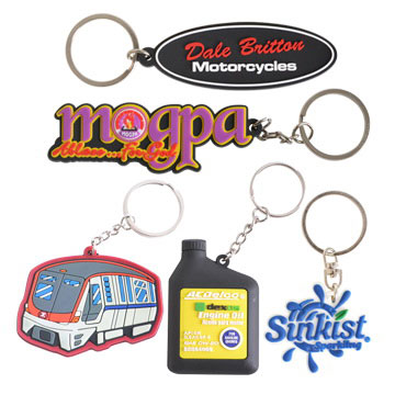 Custom Promotional Shaped Pvc Keyring Perth - Mad Dog