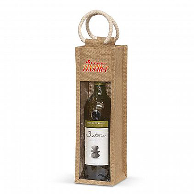 Promotional Serena Jute Wine Carrier Bags in Perth