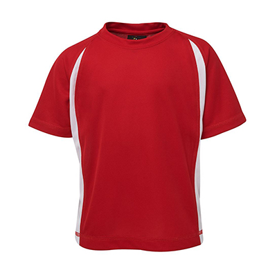 Design Your Own Podium Point Poly Pre-made Soccer T-shirts Online in Perth