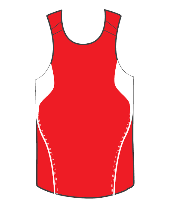 Design Your Own Red Terminator Basketball Singlets Online in Perth