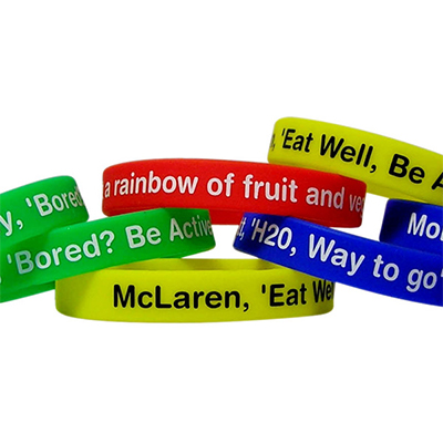 Silicon Wristbands Printed Only