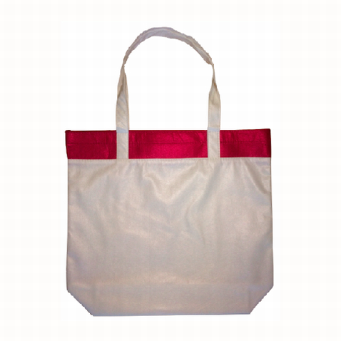 Printed Burgundy Coloured Bamboo Tote Bag in Australia