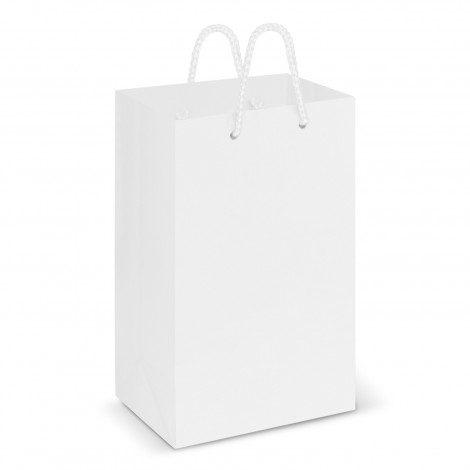 Printed Small White Laminated Carry Bags Perth