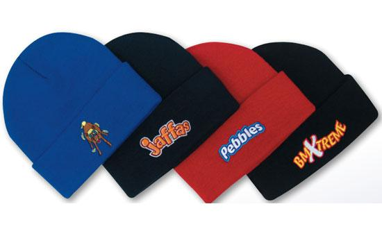 Promotional Corparate Custom Printed Bags Headwears BEANIES Fabric Strap and Brass Buckle - 4204 Perth Australia