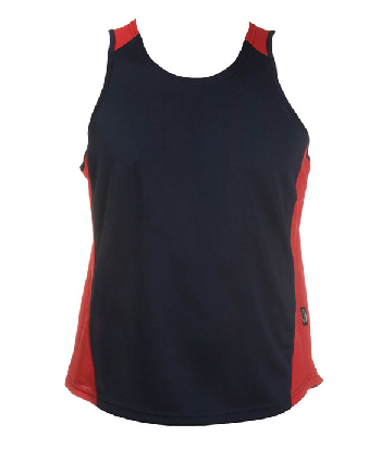 Custom Printed Navy red OC Mens Basketball Singlets in Perth