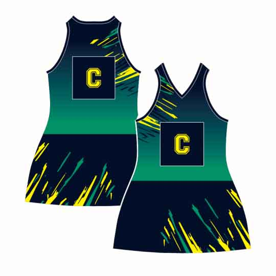 Apparels Sublimation Custom Printed Made Netball Dresses Perth Australia