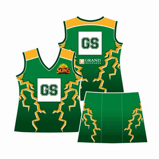 Apparels Sublimation Custom Printed Made Netball Uniforms Perth Australia