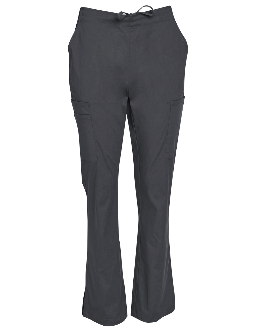 Order Online Charcoal Ladies Semi-Elastic Waist Tie Solid Colour Scrub Pants in Perth
