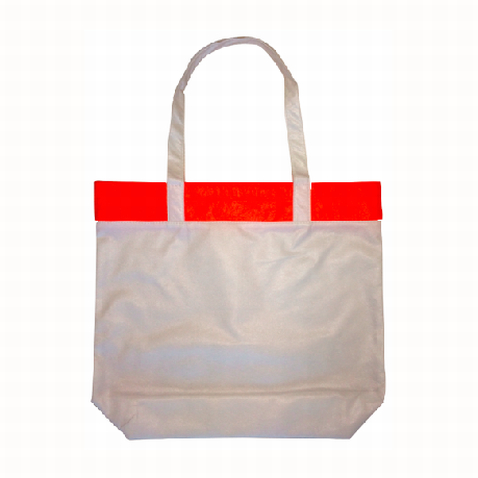 Personalised Orange Coloured Bamboo Tote Bag in Australia