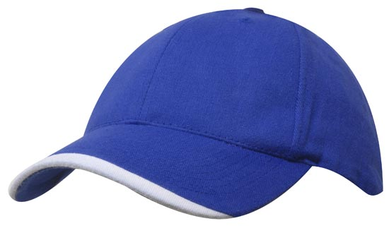 Personalised Blue Brushed Heavy Sports Twill Caps in Perth