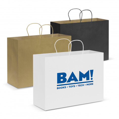 Personalised Extra Large Paper Carry Bags Perth