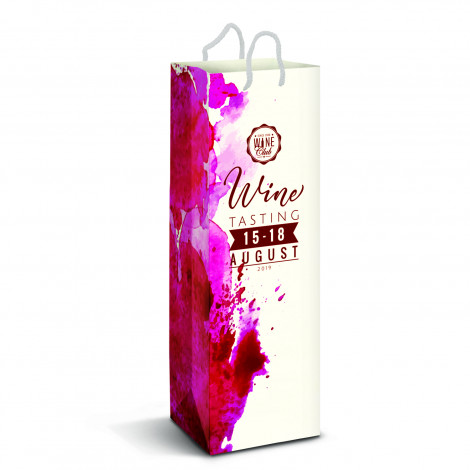 Custom Printed Paper Wine Bags in Perth