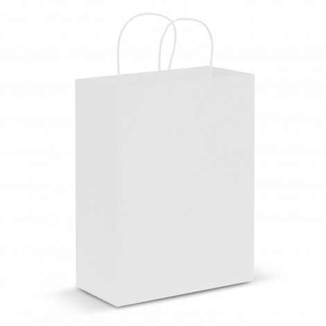 Custom White Large Paper Carry Bags in Australia