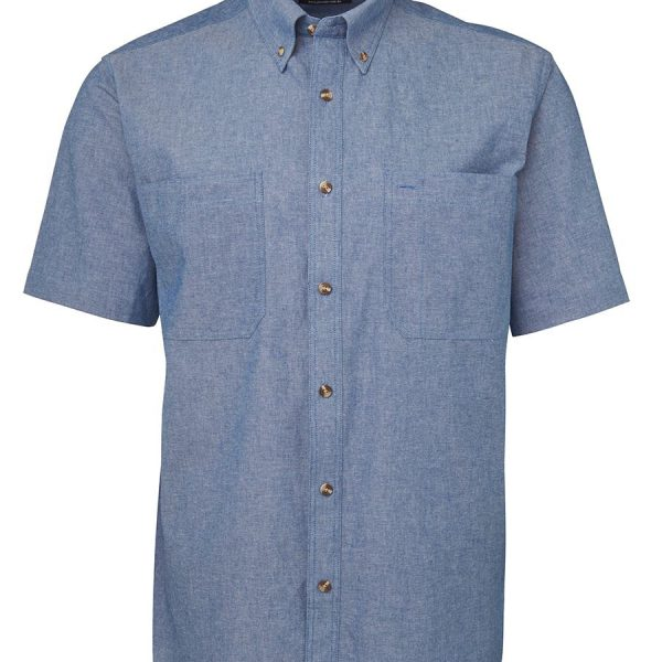 Printed S/S Cotton Chambray Shirt in Australia