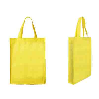 Personalised Yellow Non-Woven Trade Show Tote Bags in Perth, Australia