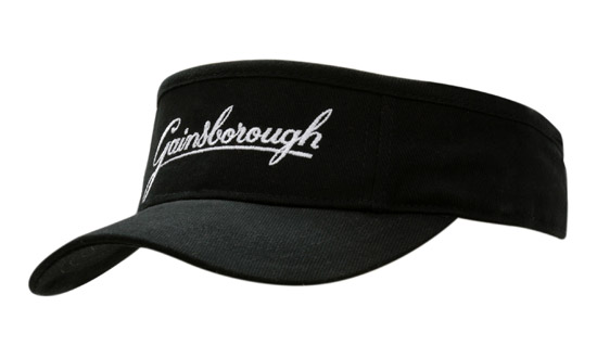 Printed Brushed Heavy Cotton Visor and Custom Visors in Perth
