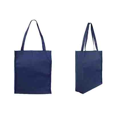 Printed Dark Blue Non Woven Large Tote Bag with Gusset Online in Perth