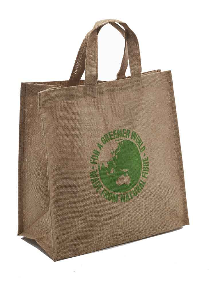 Custom Printed Eco bags Jute Carry Bag 40x40x20 in Perth, Australia