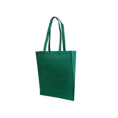 Printed Green Non Woven Tote Bag V Gusset Online in Perth