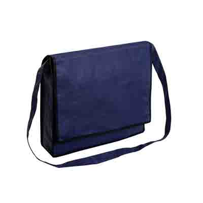 Printed Blue Non Woven Flap Satchel Online in Perth