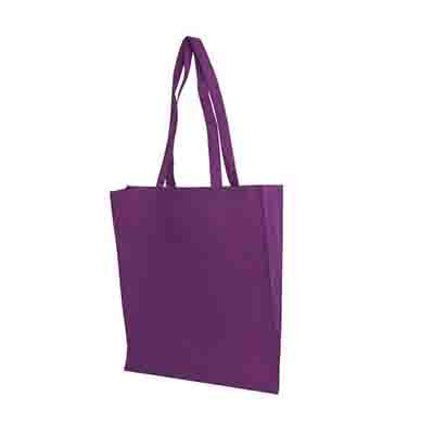 Printed Purple Non Woven Tote Bag V Gusset Online in Perth