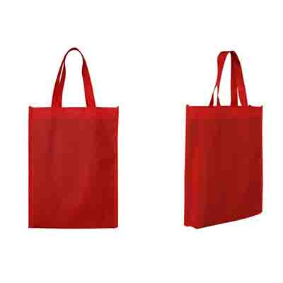 Printed Red Non-Woven Trade Show Tote Bags Online in Perth