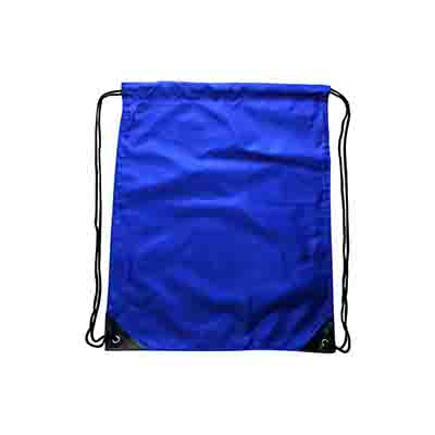Promotional Blue Nylon Backsack in Perth