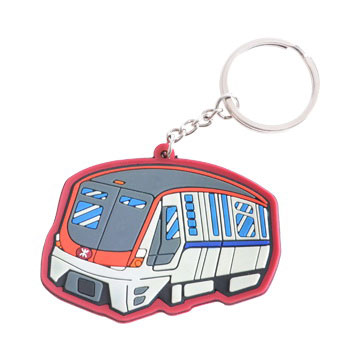 Promotional Custom Shaped PVC Keyrings in Perth