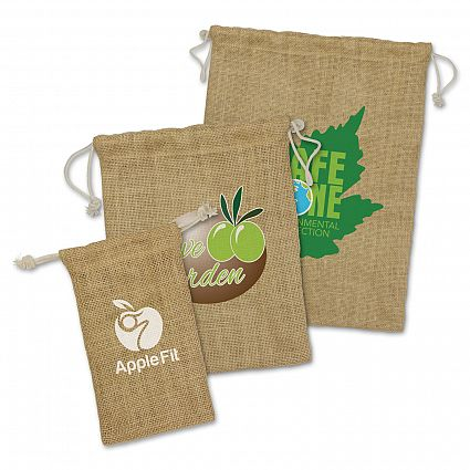 Promotional Jute Gift Bags Large in Perth